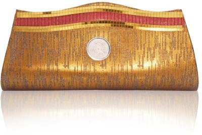 Vendee Lifestyle Simple Fashion Clutch Silver::Maroon::Golden