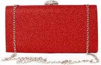 Just Women Glittering Red Large Box Clutch  Clutch - Glittering Red-46