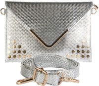 Young & Forever Bling Bling Sizzling Envelope  Clutch - Silver-01