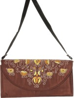 Glitters Girls, Women Party, Casual Brown Fabric  Clutch