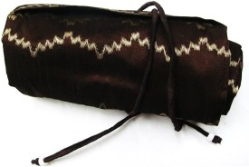 Indha Craft Women Casual Brown Fabric  Clutch