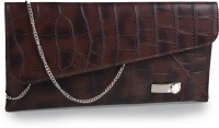 Contrast Women Casual Brown PU  Clutch