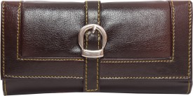 JBG Home Store Brown Artificial Leather Clutch