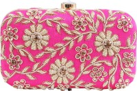 Glitters Girls, Women Party, Casual Pink Fabric  Clutch