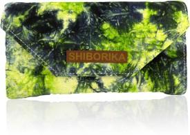 Shiborika Women Casual Green Canvas  Clutch