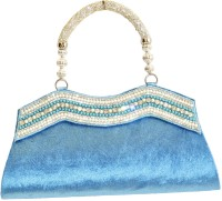 Women Trendz Women Wedding Blue Velvet  Clutch