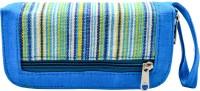 Mpkart Girls, Women Casual Blue Jute, Cotton  Clutch