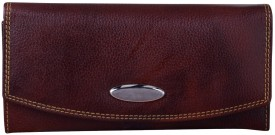 Bluwhale Formal, Casual Brown Leather  Clutch