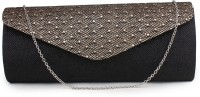 Do Bhai Party Black Artificial Leather  Clutch