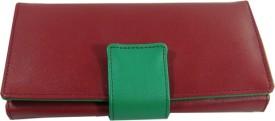 Essart Women Casual Red PU Leather Clutch