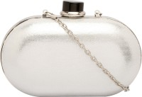 Identity Women Party Silver Metal  Clutch
