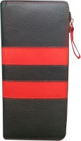 Kan Kan Black And Red Genuine Leather Travel Stylish Wallet For Women Black:Red