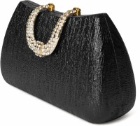 Just Women Antique Textured Crystal Studded  Clutch - Antique Black-83 - CLTEYZARQZHYJRRJ