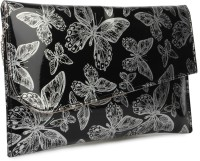 Do Bhai Women Party Silver Non-Leather  Clutch