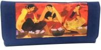 Craftstages Women Casual Blue Suede  Clutch - CLTE7U6V4FWPZSYS