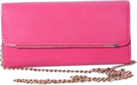Hysty Fancy Formal Party Regular Use Girls, Women Casual, Festive, Formal, Party, Wedding Pink Leather  Clutch