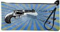 Snoogg Gun Wallet Pouch By Mark Ashkenazi  Clutch - Multicolor