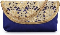 BY Bribe Yourself BYCL105 Women Casual Blue PU  Clutch