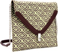 Spice Art Clutch - Yellow And Brown