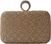 Stylocus Women Festive Gold Silk  Clutch