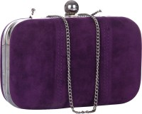 Eavan Purple Box  Clutch - Purple