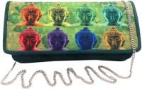Bhamini Faux Buck Digital Print Flap Women Casual Green Non Leather  Clutch