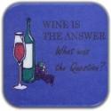 MeSleep Wine Wooden Coaster Set - Pack Of 4