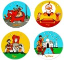 Happily Unmarried Travel Theme MDF Coaster Set - Pack Of 4 - COADV9YNTR73C4NM