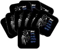 MeSleep Square Wood Coaster Set Black, Pack Of 10 - COAEAYDYQHX8566Q