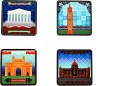 Its Our Studio Mumbai Structures MDF Coaster Set - Pack Of 4