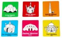 Happily Unmarried India Travel MDF Coaster Set - Pack Of 6