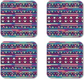 Crackndeal Square Medium Density Fibreboard Coaster Set