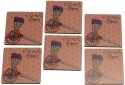 2ndmay Rikshah Sawari Wooden Coaster Set - Pack Of 6