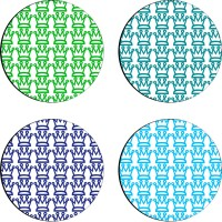Sajawathomes Colorfull Pattern Set Of Four Design 83 Wood Coaster Set (Pack Of 4)