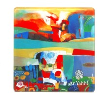 An Yahh Art Square Acrylic Coaster Multicolor, Pack Of 1