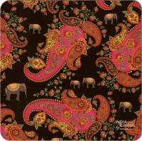 India Circus IndCri Shade Rubber Coaster Set (Pack Of 6)