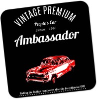 PosterGuy Square Wood Coaster Red, Black, White, Pack Of 1