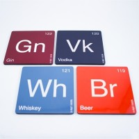 Half Horn Alcohol Periodic Table Acrylic Coaster Set (Pack Of 4)