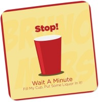 PosterGuy Square Wood Coaster Red, Yellow, Pack Of 1