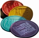 Random In Tandem Quotes Leather Coaster Set - Pack Of 4
