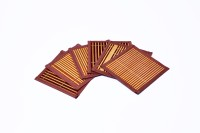 Woodenclave Square Bamboo Coaster Set Brown, Pack Of 6