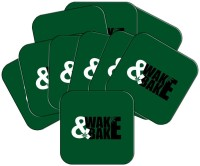 MeSleep Square Wood Coaster Set Green, Pack Of 10 - COAEAYDYGBHXDG8K