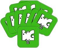 MeSleep Square Wood Coaster Set Green, Pack Of 10 - COAEAYDYEZKJKGC8