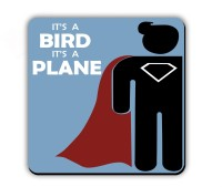 Get Fatang It's A Bird It's A Plane Wood Coaster (Pack Of 1)