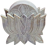 Artist Haat Lotus Stone Coaster Set (Pack Of 1)