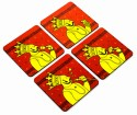 Mad(e) In India King Of India MDF Coaster Set - Pack Of 4