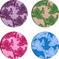 Sajawathomes Colorfull Pattern Set Of Four Design 66 Wood Coaster Set (Pack Of 4)