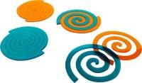 Level Two Round Acrylic Coaster Set Orange, Blue, Pack Of 4
