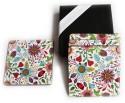 Inspired Livingg Floral Medium Density Fibreboard Coaster Set - Pack Of 4