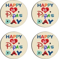 Tiedribbons Round Wood Coaster Set Multicolor, Pack Of 4 - COAE7S68DQ7HWKDM